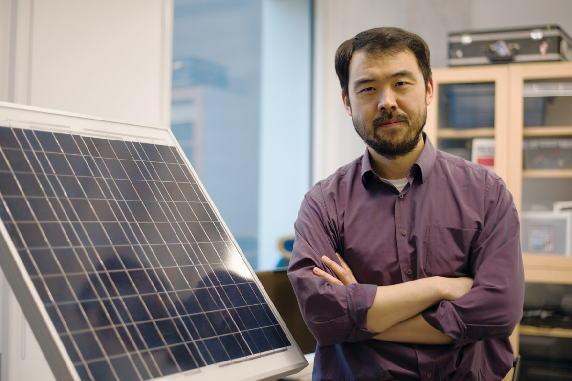 Prof. Max Zhang and his students are using electrical grids to bring renewable energy to the Maplewood Apartments.
