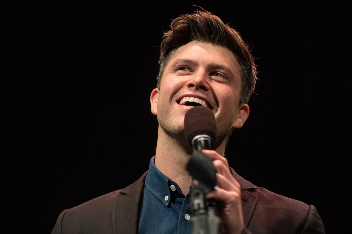 "Saturday Night Live head writer and co-anchor of ""Weekend Update"" Colin Jost came to Cornell to perform on Friday, Feb. 9. His opening act was fellow SNL performer Melissa Villaseñor."