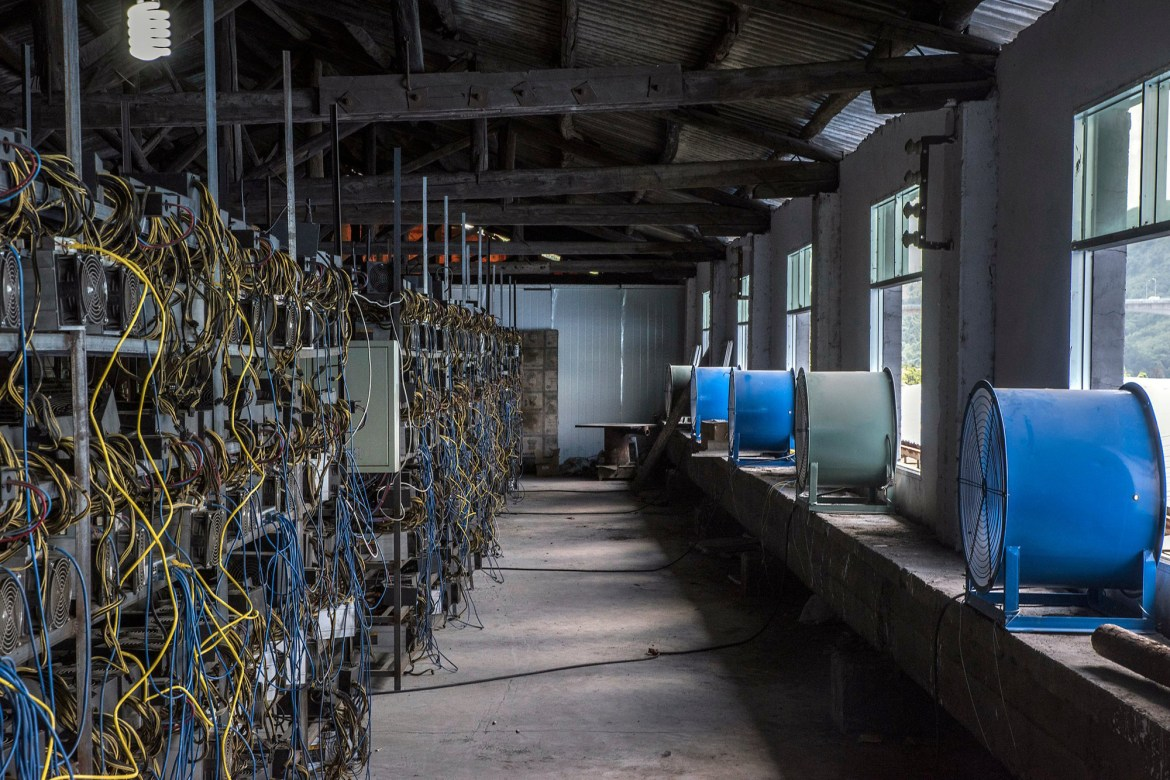 This Bitcoin farm in Guizhou, China requires a tremendous amount of cooling power.