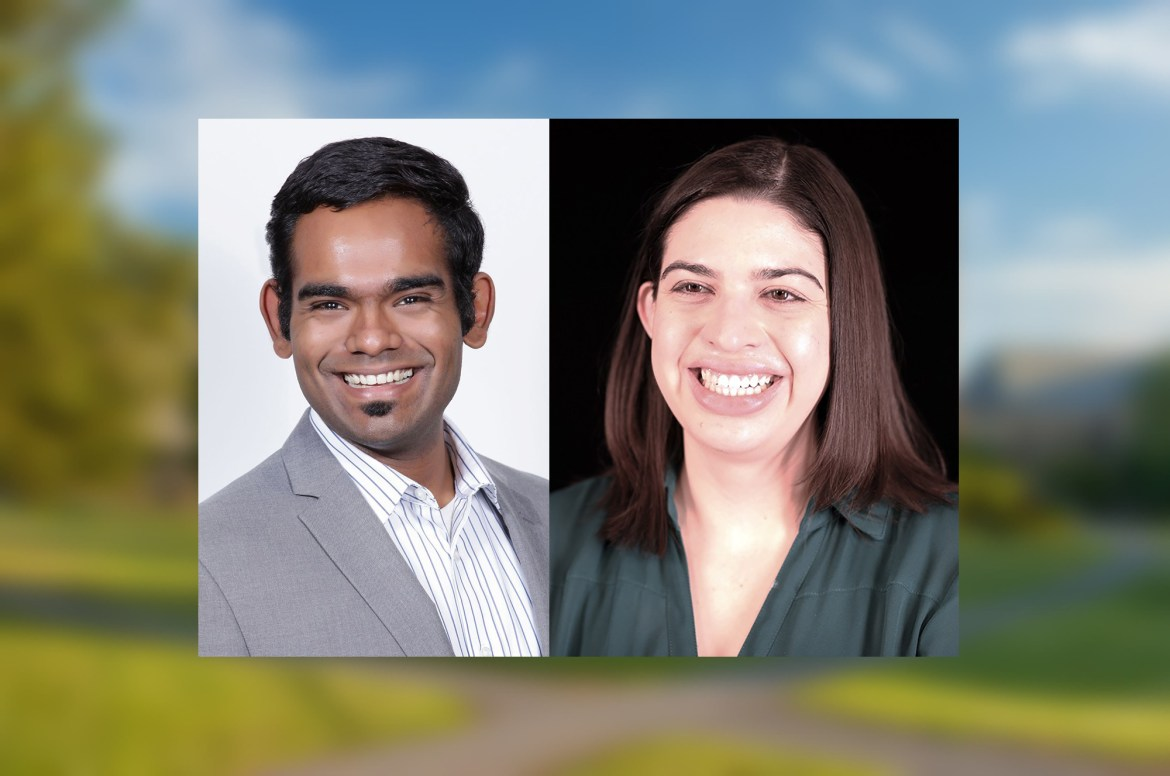 Cornell awards graduate students Stepfanie Aguillon and Aravind Natarajan the Cornelia Ye Outstanding Teaching Assistant Award.
