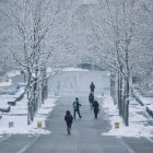 Cornell cancelled all classes on Friday in anticipation of a snow storm.( Michael Wenye Li/ Sun Photography Editor)