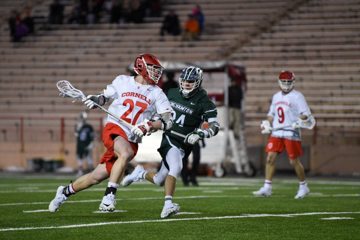Cornell totaled 18 goals Tuesday night.