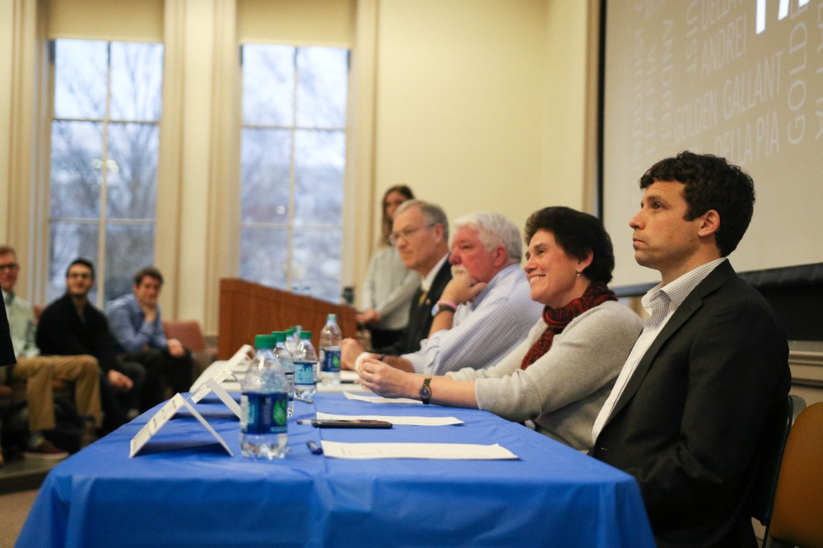 Democratic Congressional Candidate debate at McGraw Hall on March 7, 2018.
