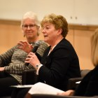 Female deans and scholars encouraged women to speak up and fight for the rights they deserve in a panel on Wednesday.