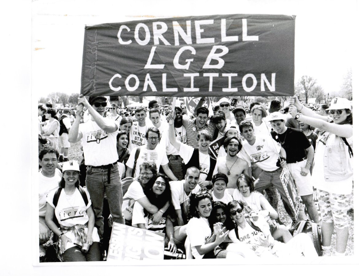 In December 1992 and March 1993, the Student Assembly passed two resolutions demanding the establishment of a queer-inclusive residential area. According to Joseph Barrios '93, the issues about LGBTQ rights dominated the political discourse on campus for an entire year.