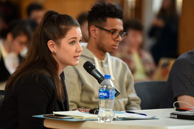 The judicial codes counselor, Kendall Karr, law '18, and Travis Cabbell '18 disagreed over who had the authority to make the final ruling on whether a candidate should be disqualified.