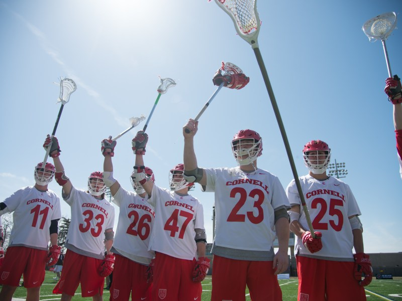 The legendary championship teams from the 1970s were in attendance as Cornell men's lacrosse earned a Senior Day win on Saturday.