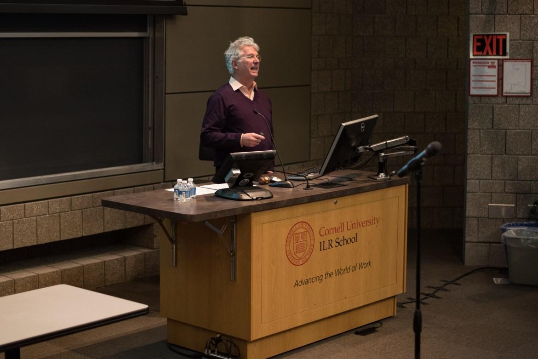 Dean of Faculty Charles Van Loan speaks at Wednesday's Faculty Senate meeting.