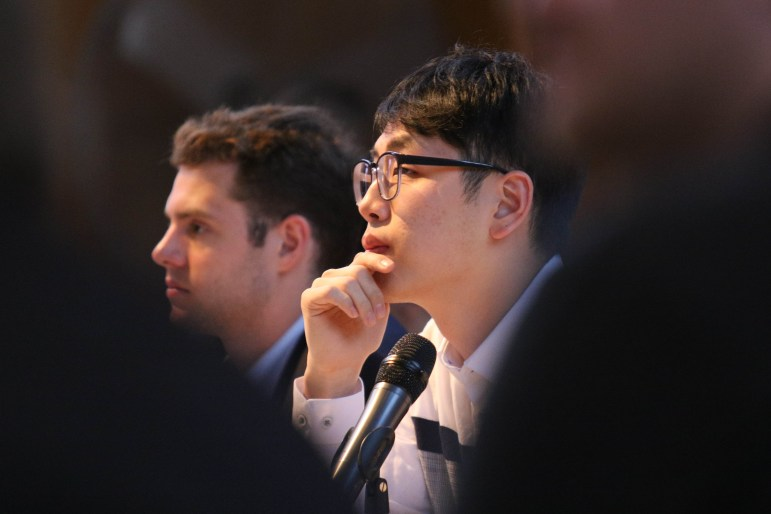 S.A. President Jung Won Kim '18 said publicly and in an email to the director of elections that he believes the elections committee has the final say in disqualifications, which emails indicate is at odds with the original purpose of involving the judicial codes counselor.