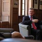 EU Commissioner speaks on Brexit in Ives Hall on April 24, 2018 .