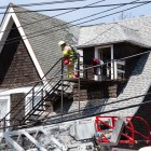 The residence at 112 Cook St sustained minor damages after welders started a fire.