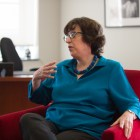 Cornell President Martha Pollack speaks to the Sun about the Presidential Task Force and its goal during an Oct. 2017 interview.