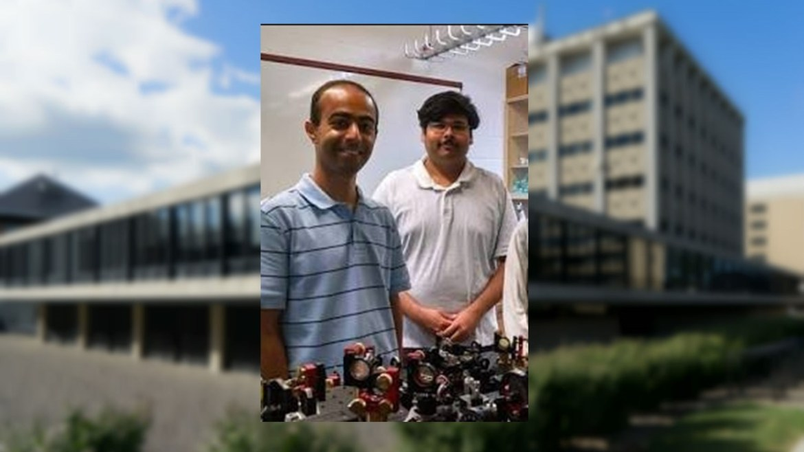 Yogesh Patil with his advisor Prof. Mukund Vengalattore in their lab in 2015.