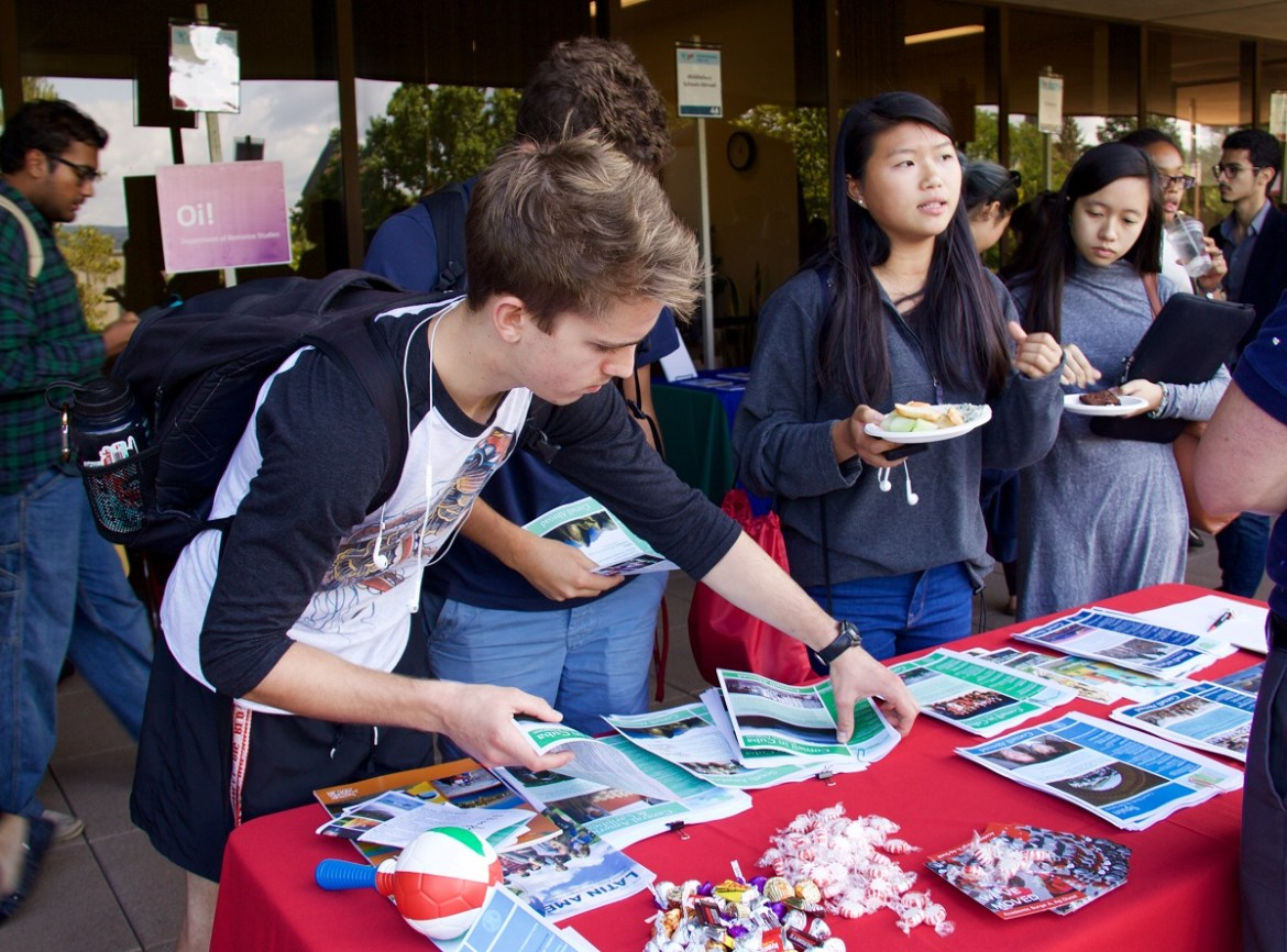 The International Fair is a joint effort from the Mario Einaudi Center, the Language Resource Center and the Office of Global Learning to help educate students about their international opportunities.