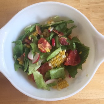 Tomato, Corn and Bacon Salad