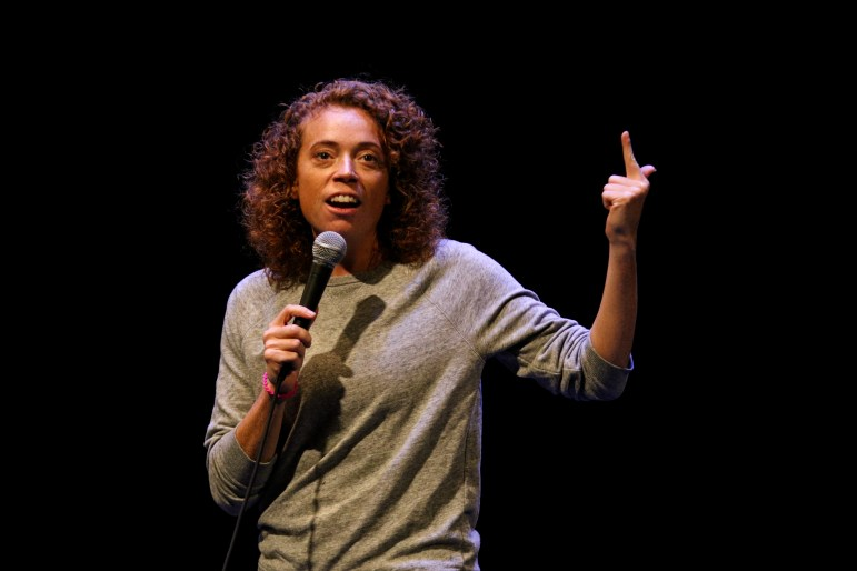 Comedian Michelle Wolf speaks at Bailey Hall on Saturday.