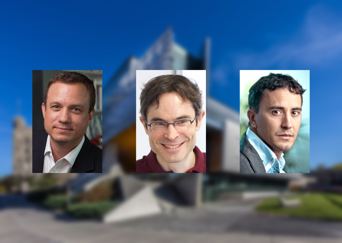 From left to right: Prof. Greg Morrisett, Prof. Ari Juels and Prof. Emin Sirer, computer science.