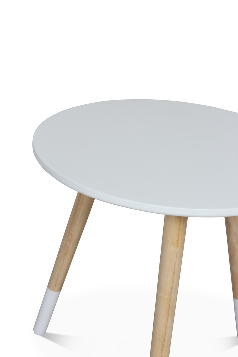 Table Basse Scandinave Blanche Table Basse Scandinave Blanche Vick D 40xh 40cm Couleur Blanc M