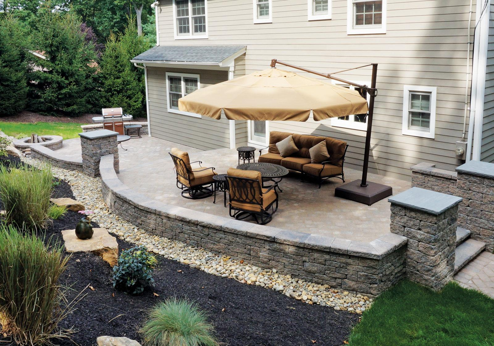 Patio Designes Backyard Patios Design Ideas Cornerstone Wall Solutions