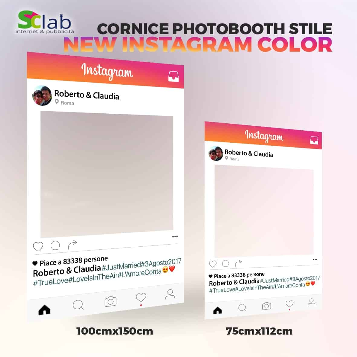 Cornici Photo Booth Fai Da Te Cornice Instagram Per Foto Idee Immagine Di Decorazione