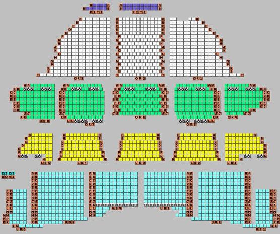 Coronado Performing Arts Center Rockford, IL Seating Map