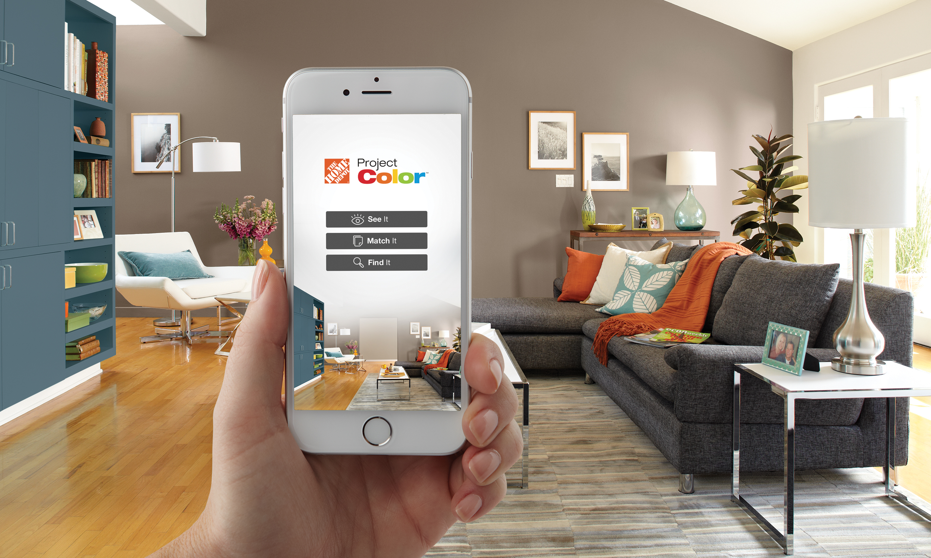 Paint Colors That Flow From Room To Room The Home Depot New Technology Shows You The Perfect Paint Color
