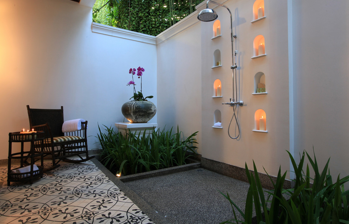 Pergola Rumah Minimalis Outdoor Shower Drainage Ideas | Interesting Ideas For Home