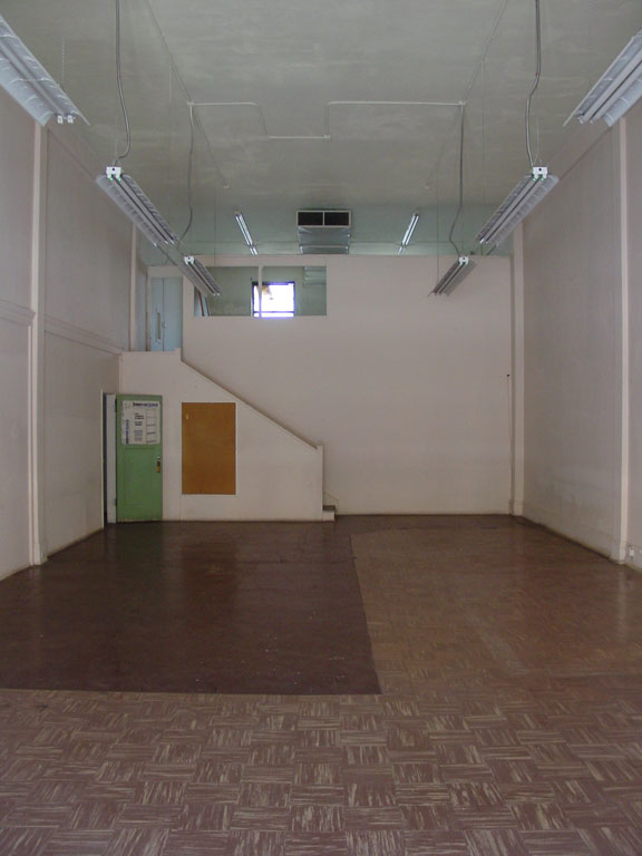 the office space before exhibition space