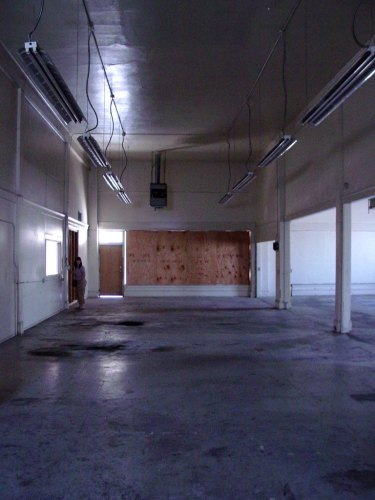 The warehouse area before the construction of the studios.