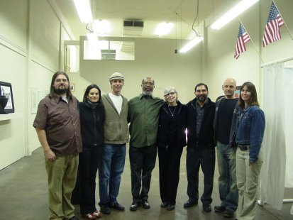 Founding members of Corridor 2122. (Left to right) Quinn Gomez-Heitzeberg, Aimee Dent, Stephen Dent, William Raines, Sally Stallings, Steve Dzerigian, Edward Lund, Melissa Delaney, (missing Yumi Kinoshita).