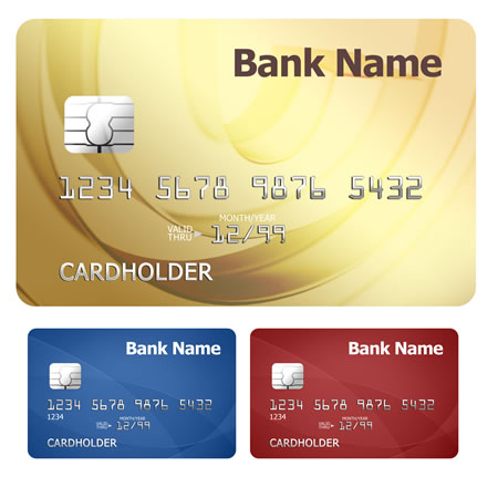 Credit \ Debit Card PSD Template Icon free image download - id card psd template