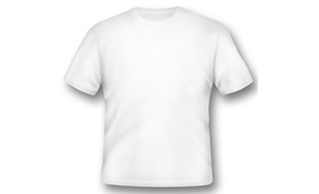 White T-shirt Photoshop Template