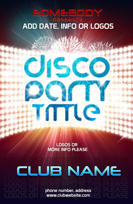 Editable Dance Party Poster Template
