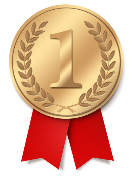 First Place Ribbon Medal (PSD)