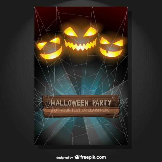 Halloween Party Flyer Template (AI)