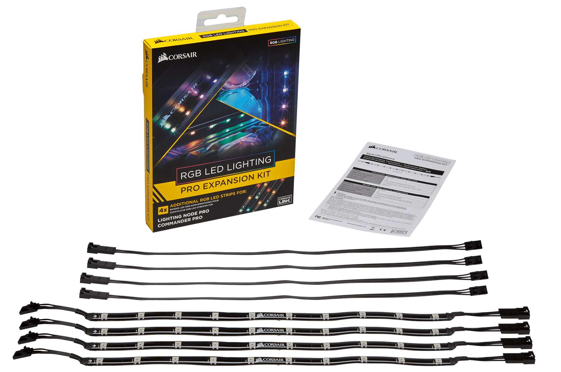 Led Leuchtbänder Corsair Rgb Led Lighting Pro Expansion Kit