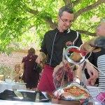 Corte de jamón boda Parador de Alcañiz