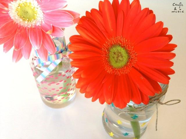 tarros de cristal decoración DIY  flores