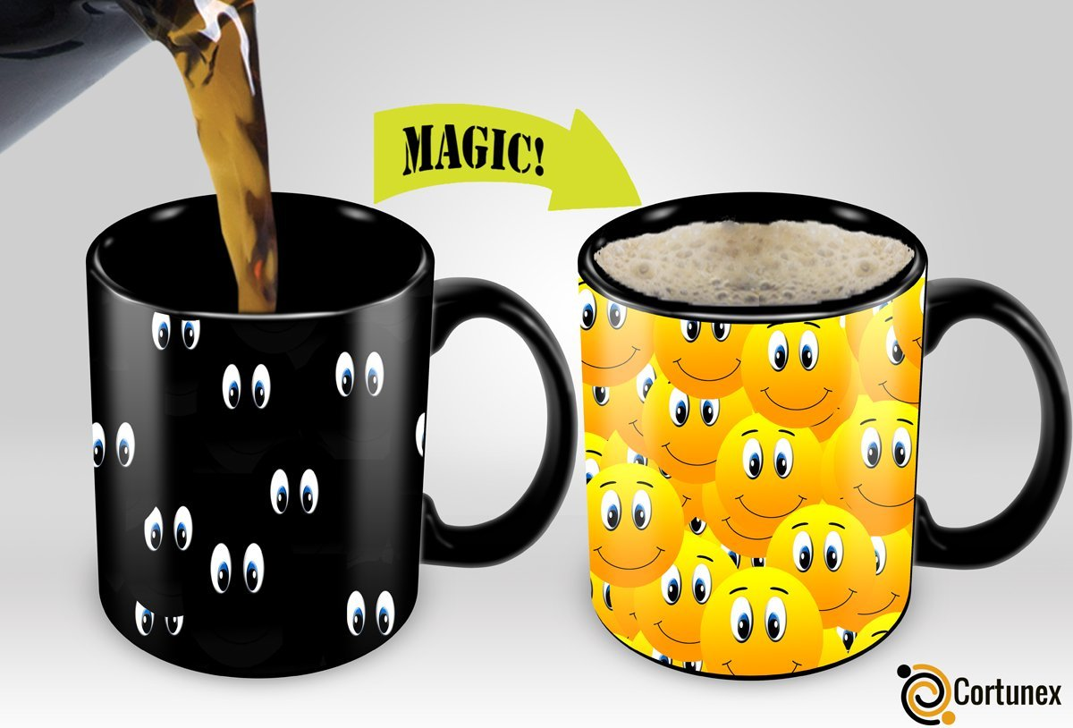 Interesting Coffee Cups Magic Coffee Mugs Travel Mug Heat Sensitive Color Changing