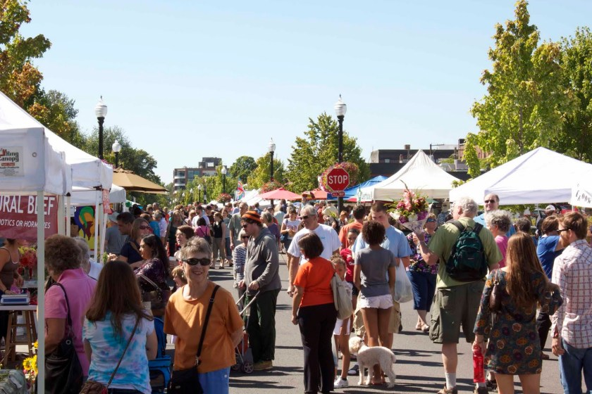 The Corvallis Farmers Market. Be there on July 23, when the Corvallis Guitar Society holds forth.
