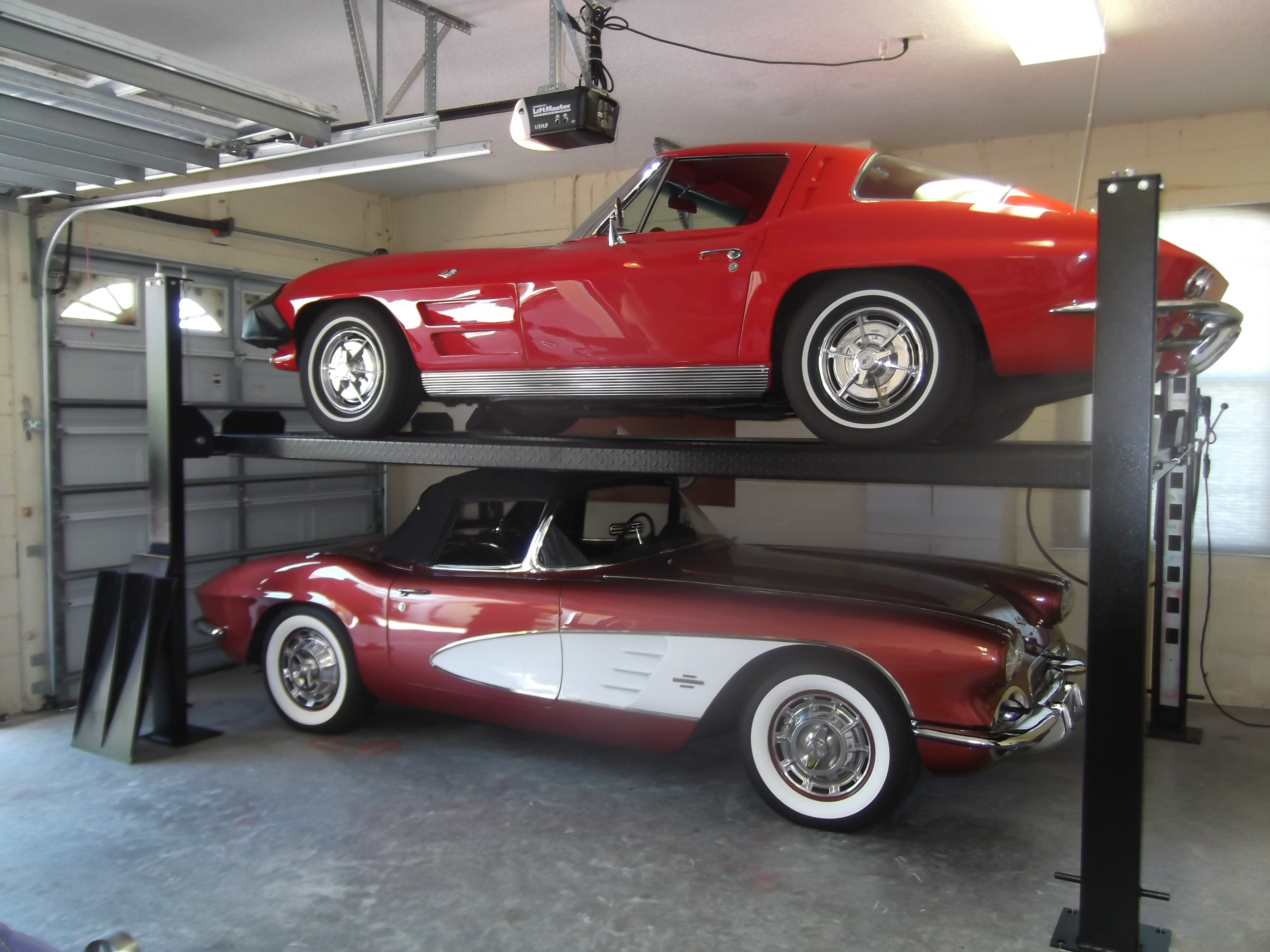 Car Lift In Garage Minimum Ceiling Height For A 4 Post Lift Corvetteforum