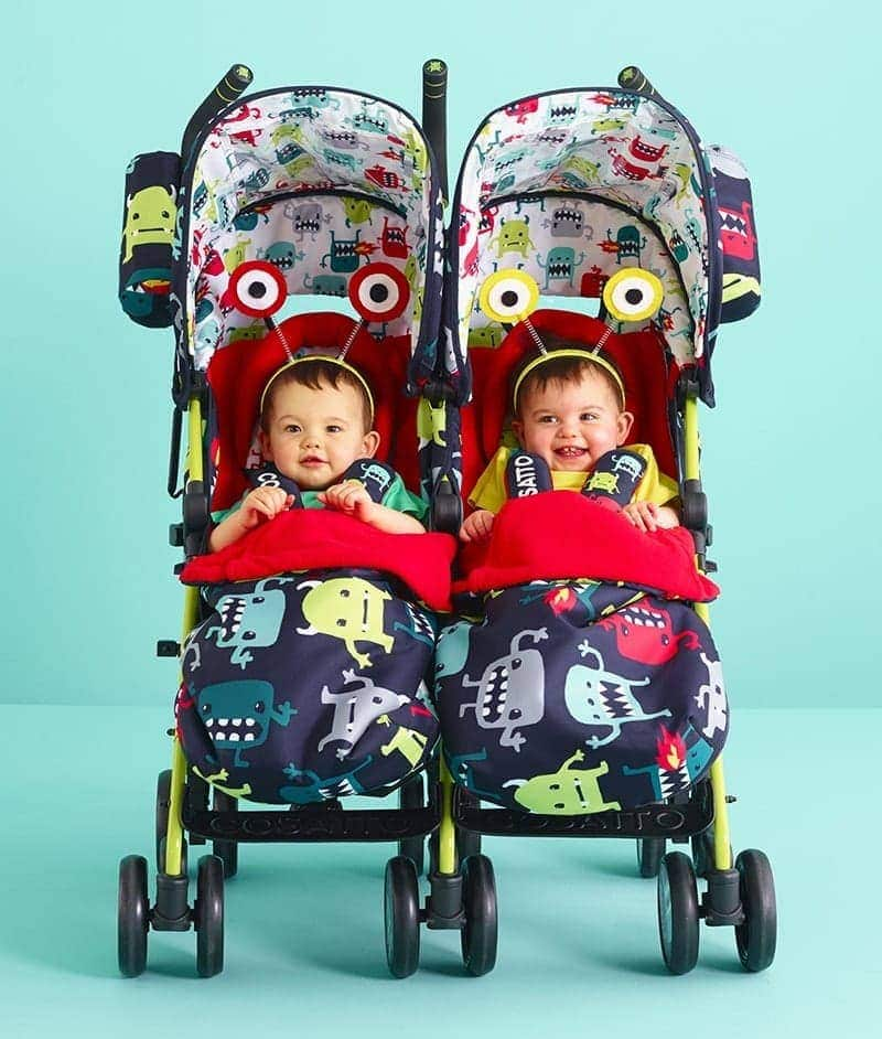 Lightweight Twin Pram Cosatto Supa Dupa Twin Stroller – Cuddle Monster 2