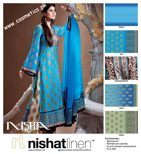 Nishat Linen Latest Nisha Embroidered Lawn For Summer 2012 Pictures