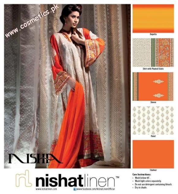 Nishat Linen Summer Collection For Women 2012. (2)