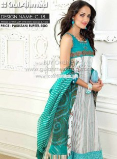 Gul Ahmed Latest Lawn Collection For Mid Summer 2012-13 004