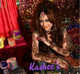 Latest Bridal Mehndi and Hairstyling by Kashee's Beauty Parlour 2015