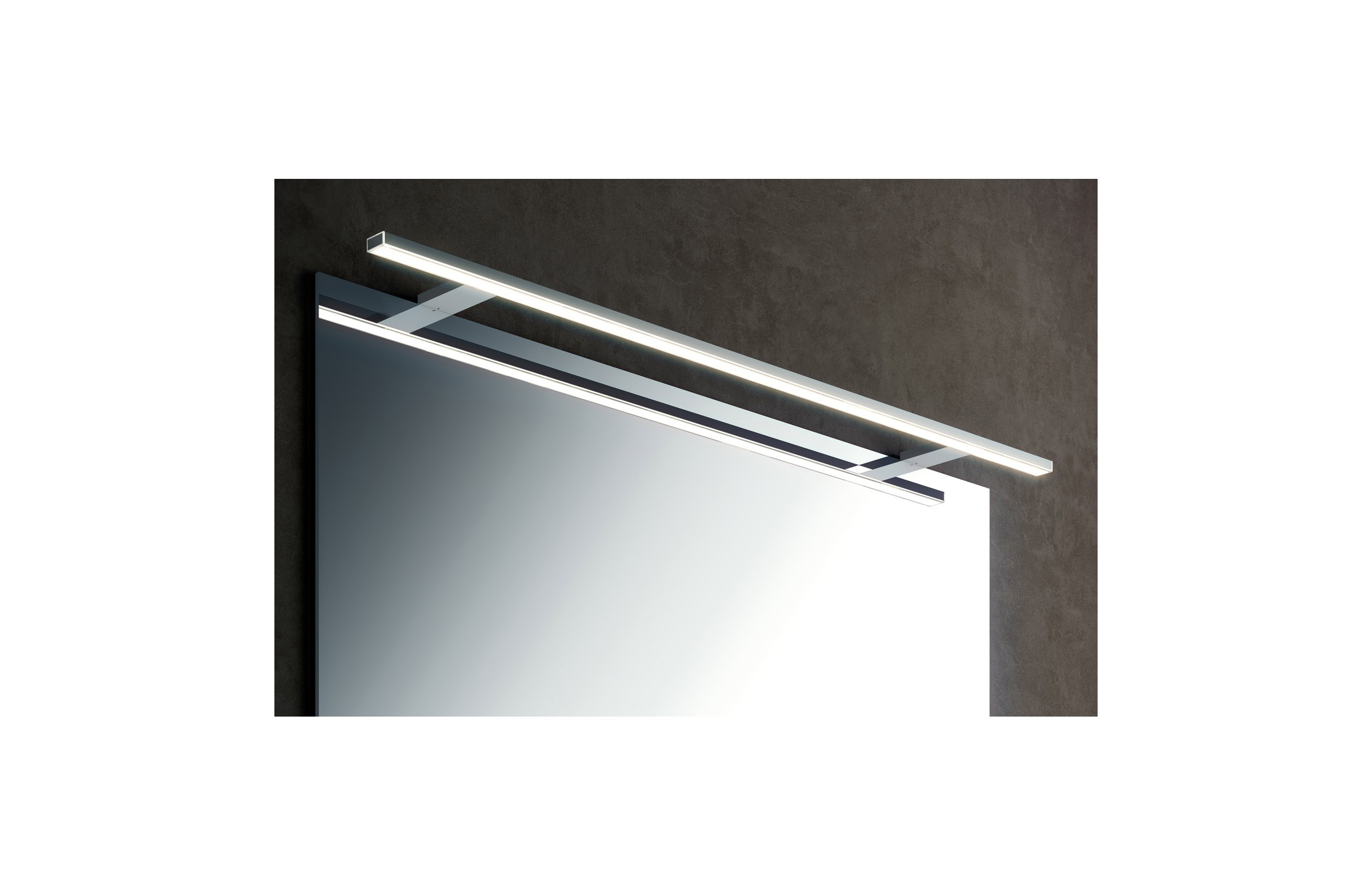 Aplique Baño Aplique Led De Pared Baño Light 100 Cm Cromo Cosmic