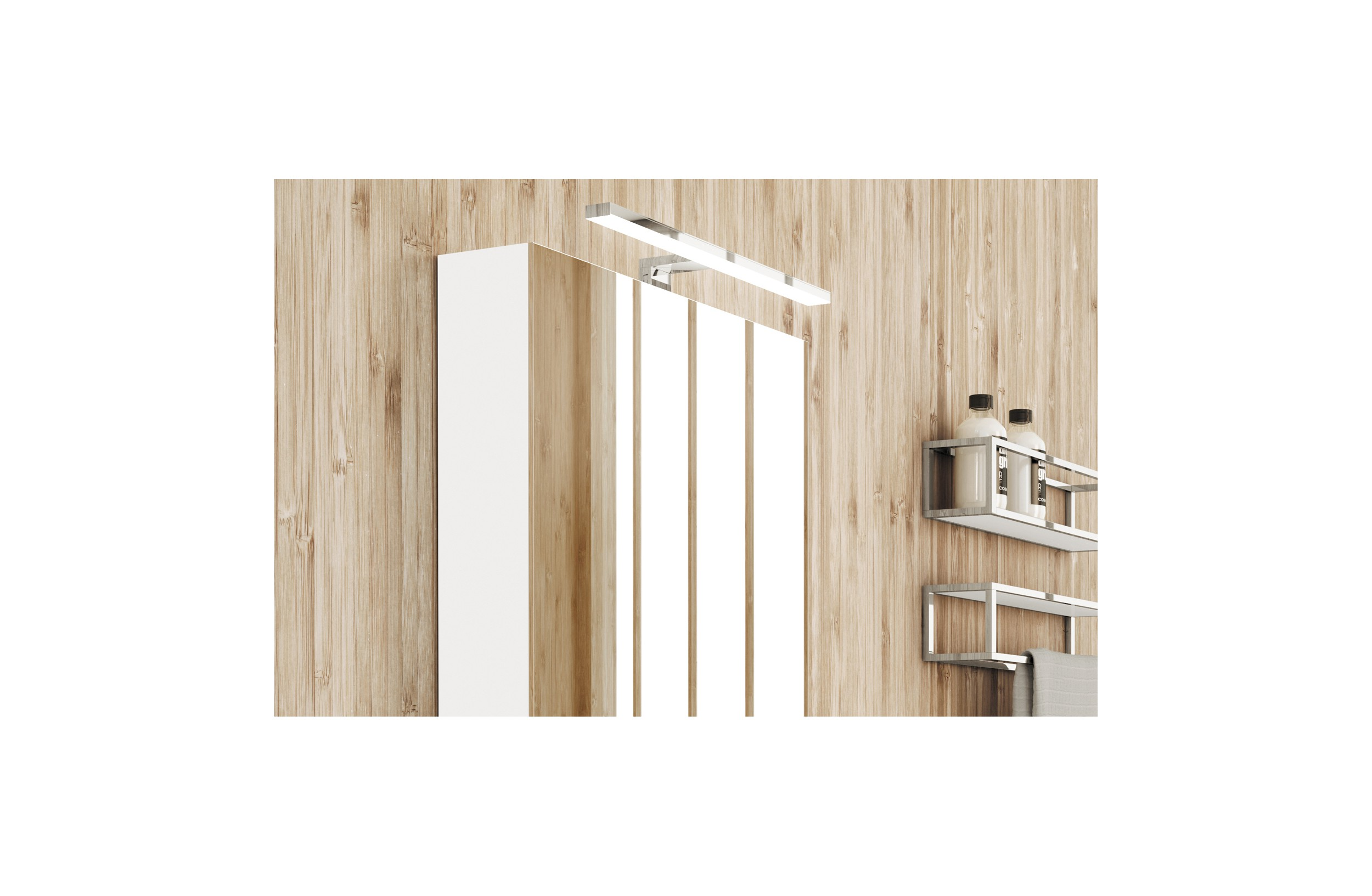 Aplique Baño Aplique Led Para Mueble Baño Light 45 Cm Cromo Cosmic