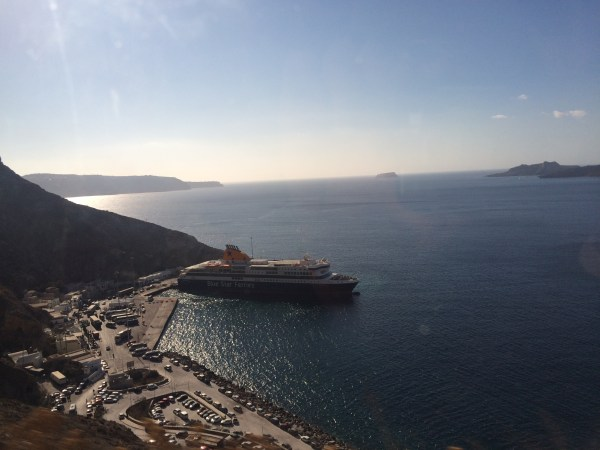 The ferry that took me to Santorini