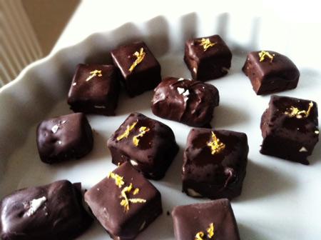 Lakritspraliner och chokladtryfflar
